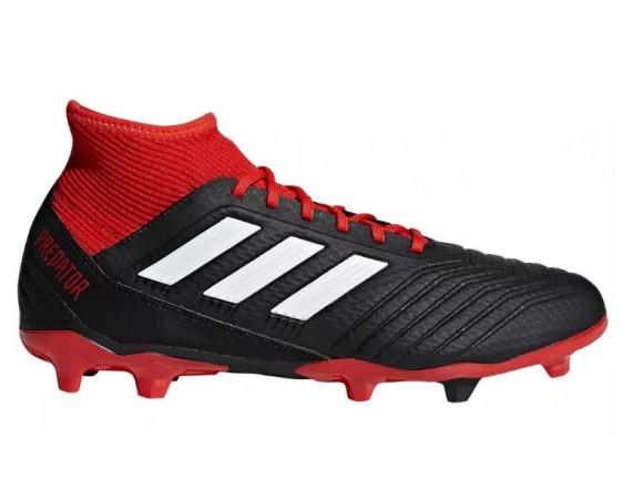 Bestel de Adidas Predator 18.3 FG voetbalschoenen zwart wit