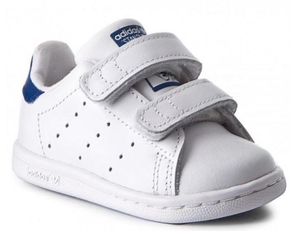 c540783e12a Bestel Adidas Originals Stan Smith Junior Wit/Blauw Online Bij ...
