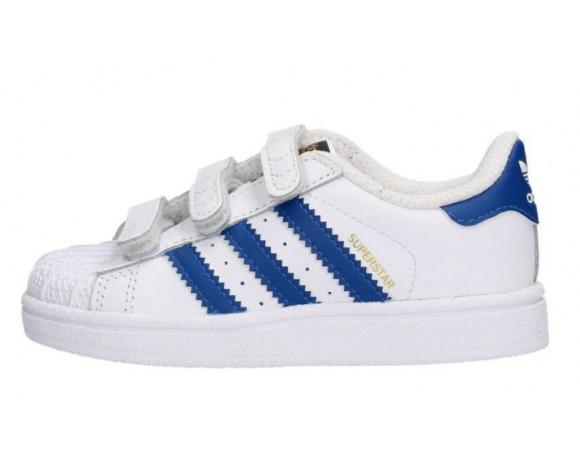 adidas superstar wit met blauw