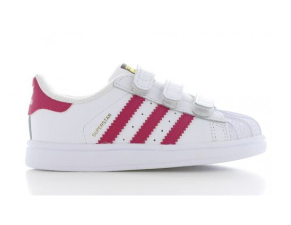 adidas superstar wit licht roze