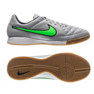 Nike Tiempo Genio Leather IC Wolf Grey / Green