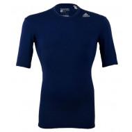 Adidas TechFit Base Shirt KM D.Blauw