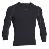 Under Armour HeatGear Compressie LS Shirt Zwart