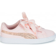 Puma Basket Heart Canvas Roze