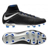 Nike Hypervenom Phatal 3 DF FG Pitch Dark - Zwart/Wit/Blauw