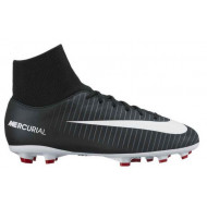 Nike Mercurial Victory VI DF FG Junior Black White