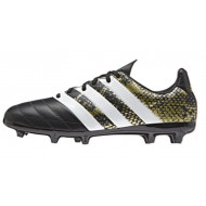 Adidas ACE 16.3 FG Leather Core Black Future White Junior