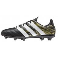 Adidas ACE 16.3 FG Leather Core Black Future White Junior