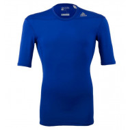 Adidas TechFit Base Shirt KM Blauw