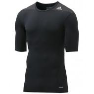 Adidas TechFit Base Shirt KM Zwart