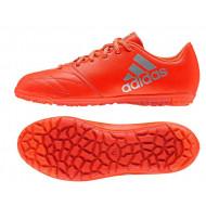 Adidas X 16.3 Leer Turf Solar Red Junior