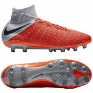 Nike Hypervenom 3 Elite DF AG Pro Rood Grijs