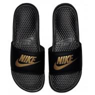 Nike Benassi JDI Slippers - Zwart/Goud