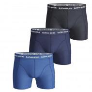 Bjorn Borg 3-Pack Boxershorts - Zwart / Blauw / Donkerblauw