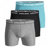 Bjorn Borg 3-Pack Boxershorts - Blauw / Zwart / Grijs