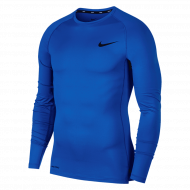 Nike Pro Longsleeve Shirt Blauw