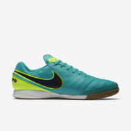 Nike Tiempo Genio Leather IC Turquoise/Zwart/Neon