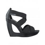 Calvin Klein Sandaal met Sleehak Zwart