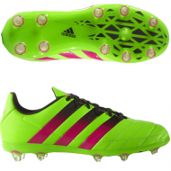 Adidas ACE 16.1 FG J Leather Solar Green Shock Pink