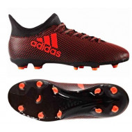 Adidas X 17.3 FG Junior Core Black Solar Red