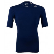 Adidas TechFit Base Shirt KM D.Blauw