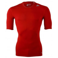 Adidas TechFit Base Shirt KM Rood