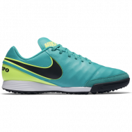 Nike Tiempo Genio II TF Turquoise/Zwart/Neon