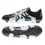 Adidas X 15.2 FG-AG Leer Core Black Mint