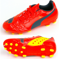 Puma EvoPower 4 AG Junior Peach Blue Yellow